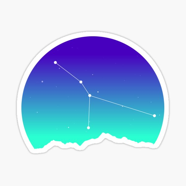 Cancer Star Sign Astrology in Night Sky over Mountains Sticker