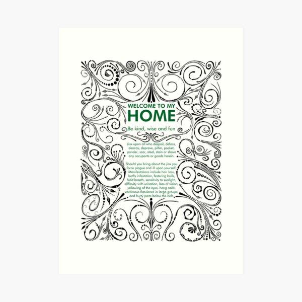 Home Jinx Art Print