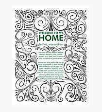 Home Jinx Photographic Print