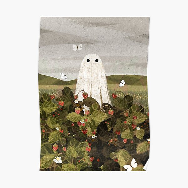 champs de fraises Poster