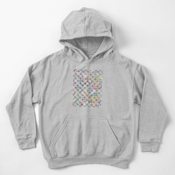 Colorful Circular Floral Abstract Geometric Middle Hex Pattern Rug and Carpet Modern Art Design Kids Pullover Hoodie