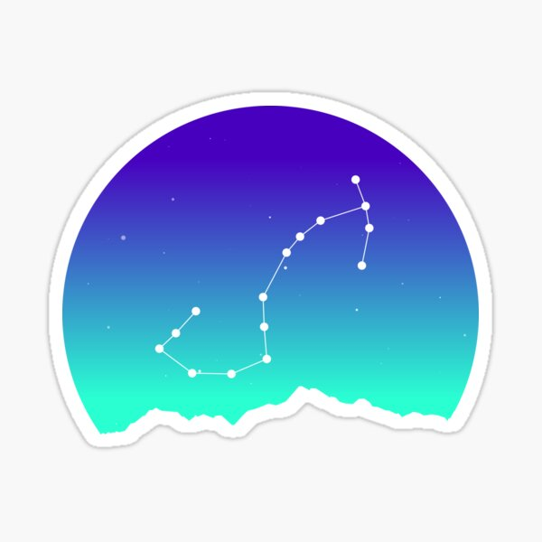Scorpio Star Sign Astrology in Night Sky over Mountains Sticker