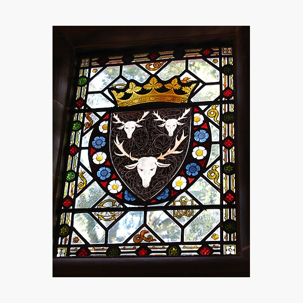 Stained Glass Window - Holker Hall Photographic Print
