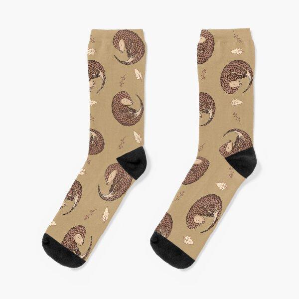 Süßes Pangolin Schuppentier Muster Socken