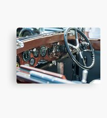 Vintage auto dash Canvas Print