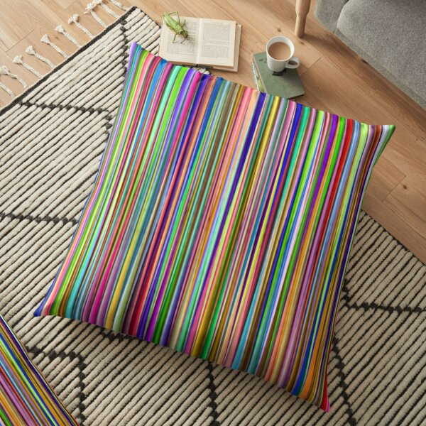 Colorful Stripes Floor Pillow