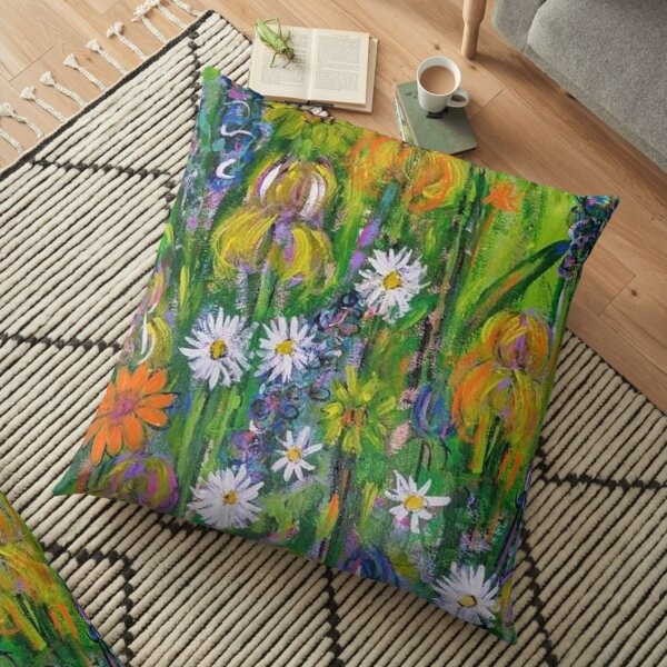 Field of Flowers Floor Pillow