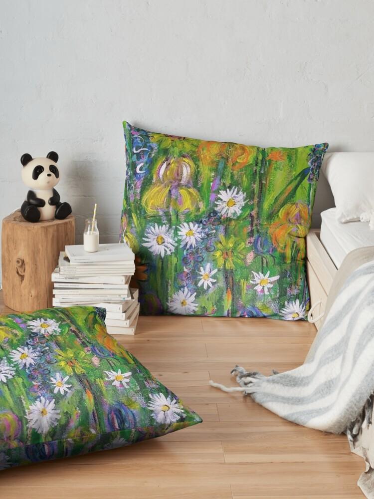 Alternate view of Field of Flowers Floor Pillow