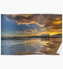 Sandown Pier Sunset Poster