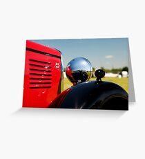Vintage MG classic car Greeting Card
