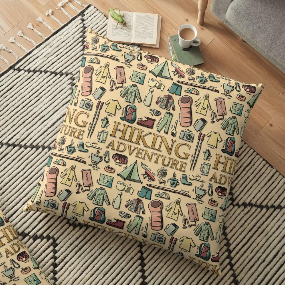 Hiking Adventure Floor Pillow