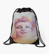 Lost in Thought Drawstring Bag