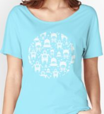 Colorful fun robots pattern Women's Relaxed Fit T-Shirt