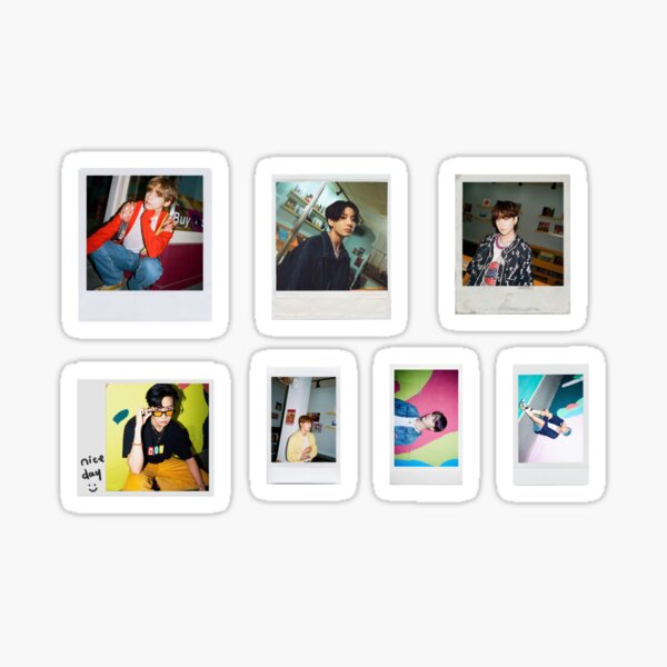 Paquete de pegatinas Polaroid de BTS Dynamite 2 Pegatina