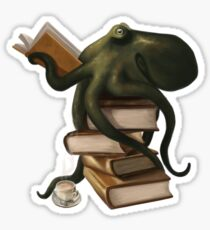 Well-Read Octopus Sticker
