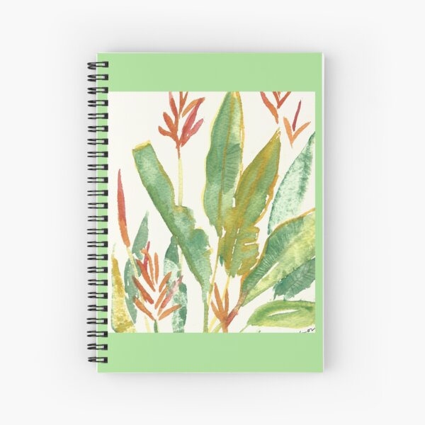 SOFT GREEN LEAF SANTUARY Spiral Notebook