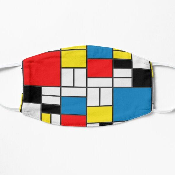 Mask cloth face Mondrian paint Flat Mask