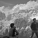 Sherpas at Annapurna by Istvan Hernadi