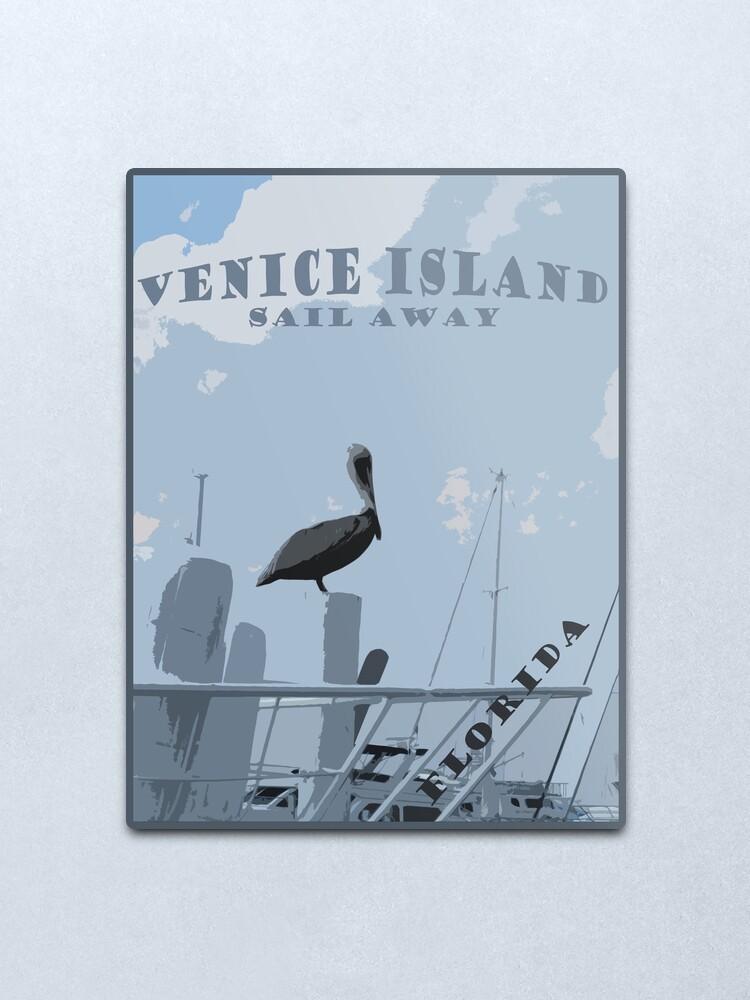 Alternate view of Venice Island Metal Print