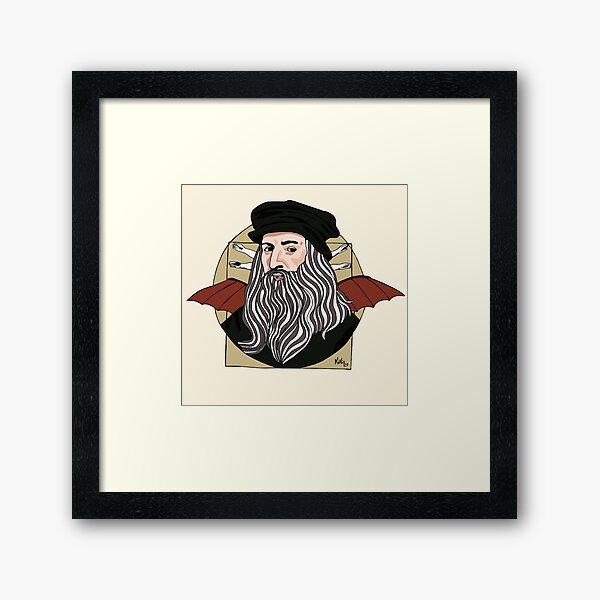 Leonardo Da Vinci  Lámina enmarcada