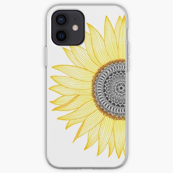 Golden Mandala Girasol Funda blanda para iPhone