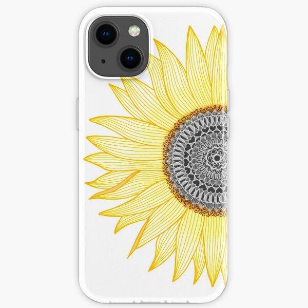 Golden Mandala Sunflower iPhone Soft Case
