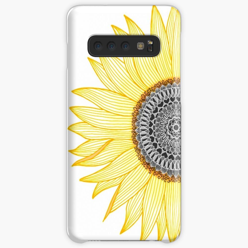 Golden Mandala Sunflower Case & Skin for Samsung Galaxy