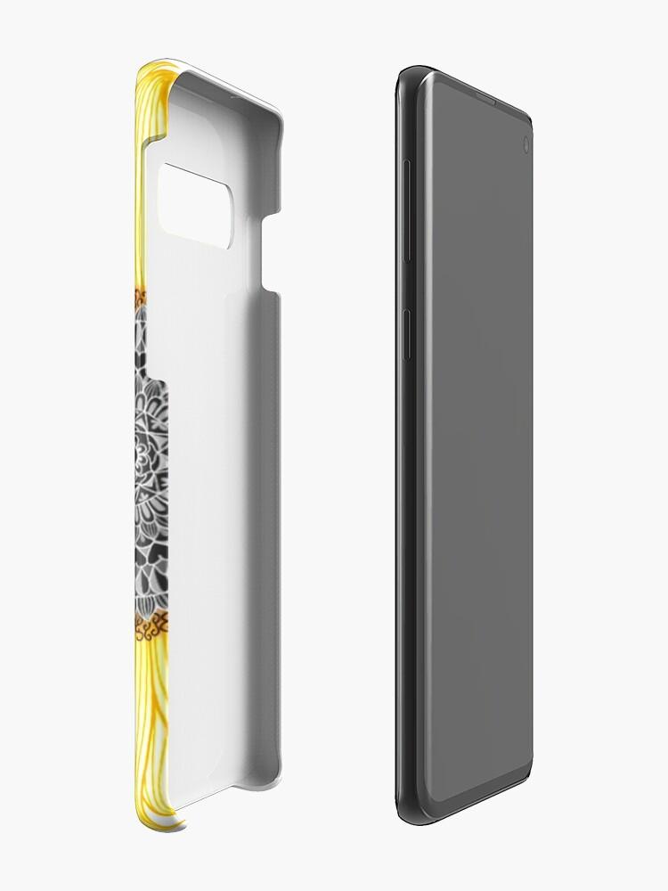 Alternate view of Golden Mandala Sunflower Case & Skin for Samsung Galaxy