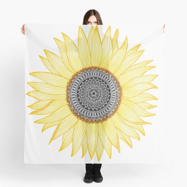 Golden Mandala Sunflower Scarf