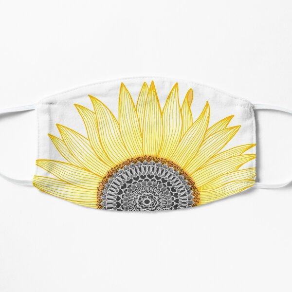 Golden Mandala Sunflower Flat Mask