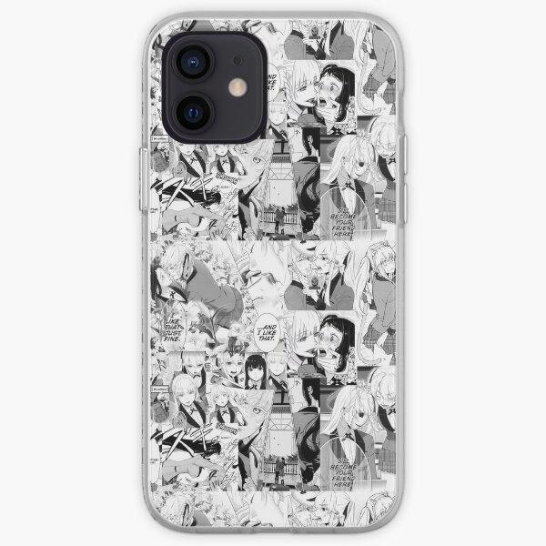 Kakegurui collage art Funda blanda para iPhone