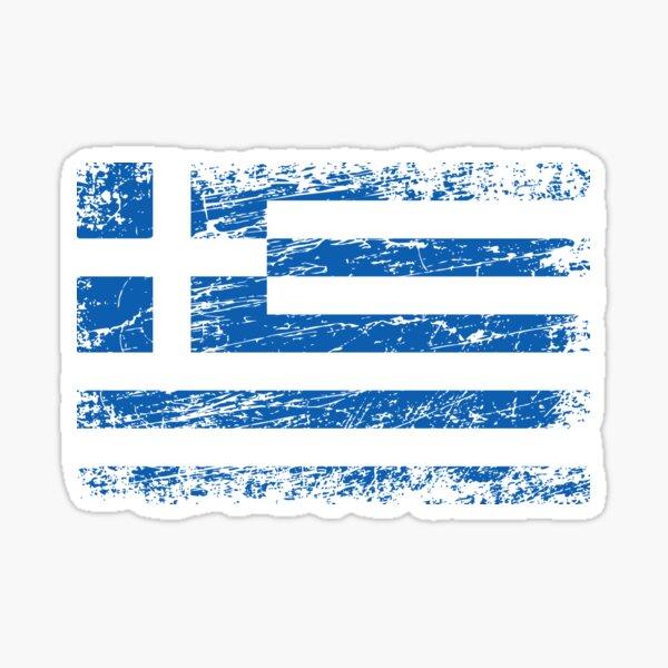 Griechenland griechisch Fahne Flagge used-look Sticker