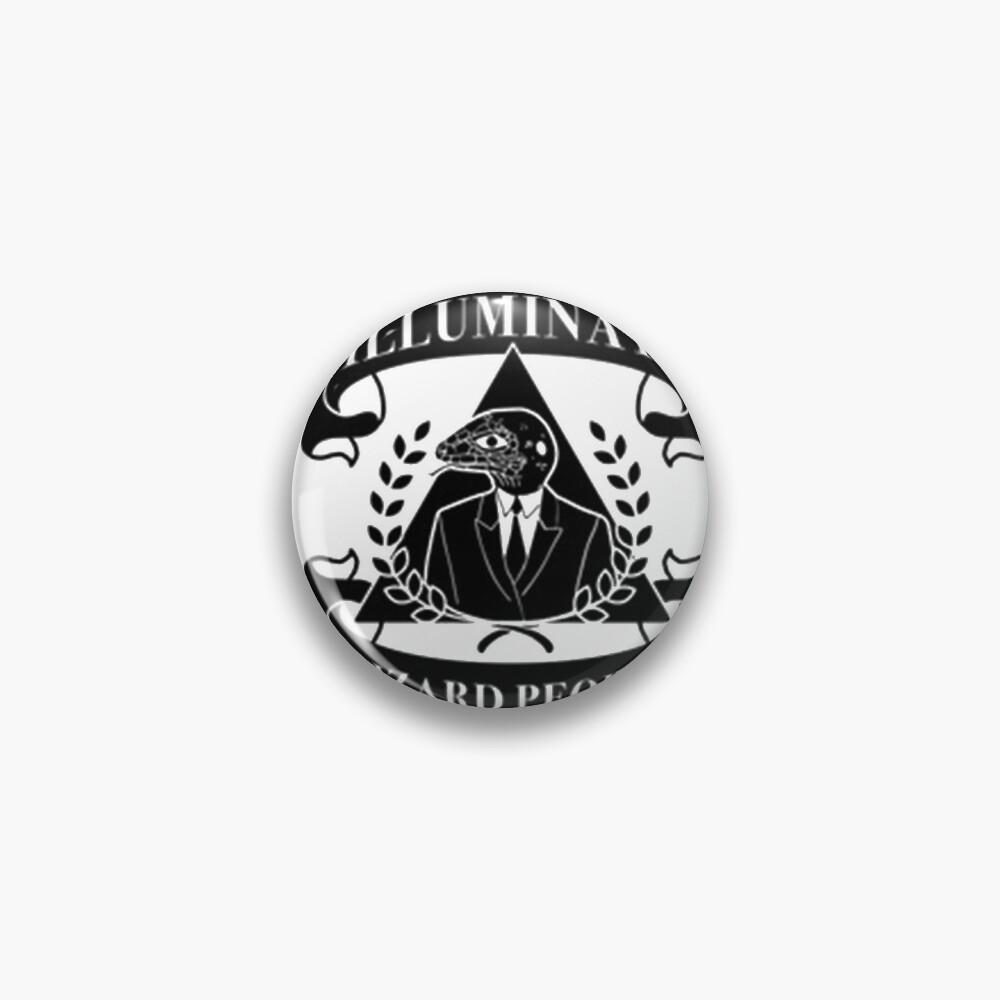 Deepstate Illuminati Lizard People Secret Society Club Pin