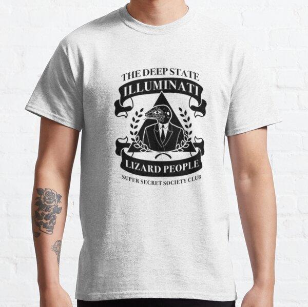 Deepstate Illuminati Lizard People Secret Society Club Classic T-Shirt