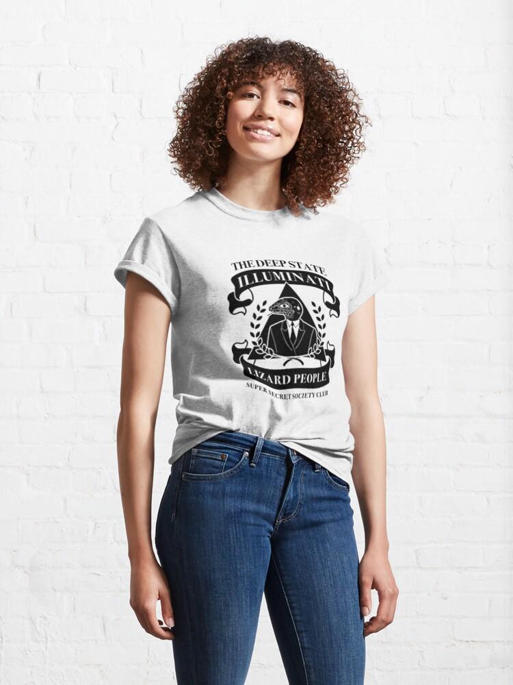 Alternate view of Deepstate Illuminati Lizard People Secret Society Club Classic T-Shirt