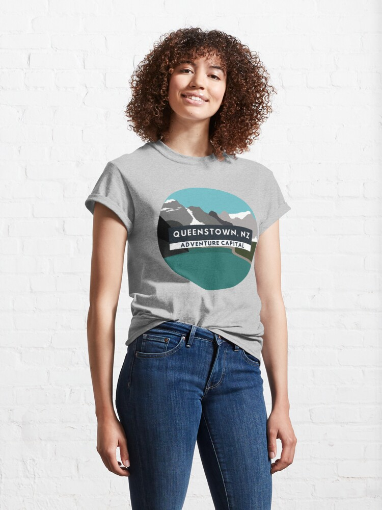 Alternate view of Queenstown Adventure Capital Classic T-Shirt
