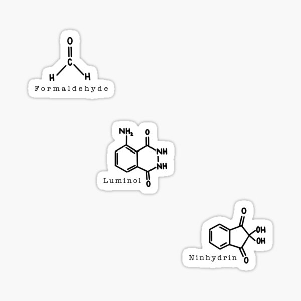 Productos químicos forenses Pegatina