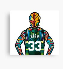 Larry Bird - Stained Glass Canvas Print