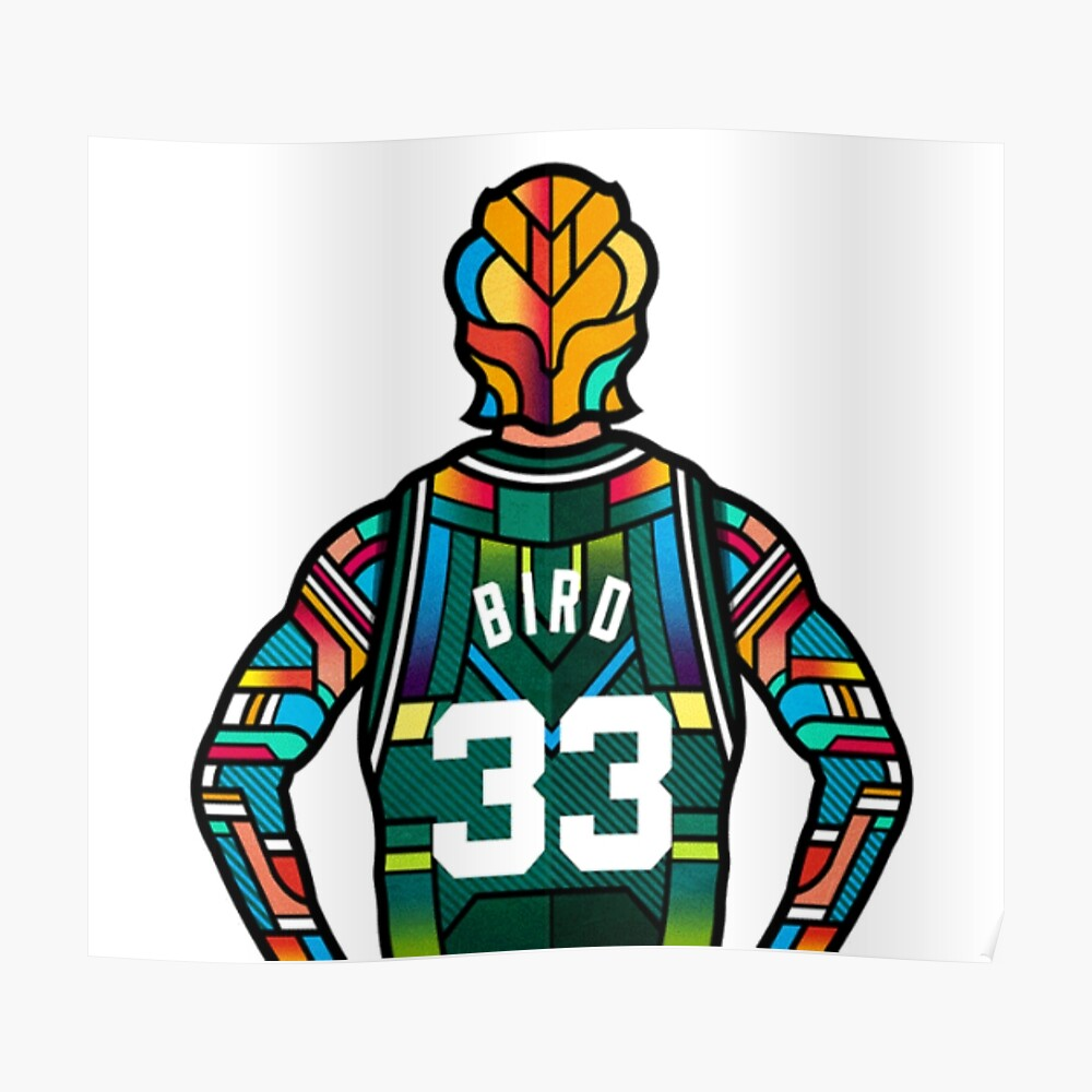 Larry Bird - Stained Glass Póster