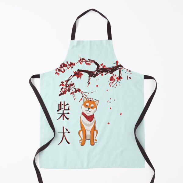 Wolf Pup Daisies New Apron Kitchen Cook Parties Events