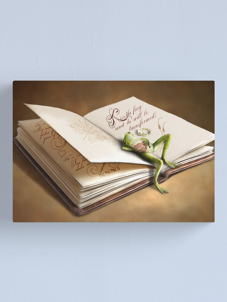Alternate view of The Frog Prince Canvas Print