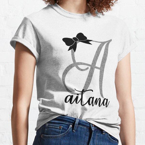 Aitana niña niños mujer hija Camiseta clásica