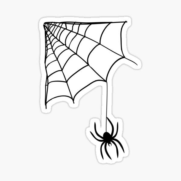 Spider crawling down a spider's web Sticker