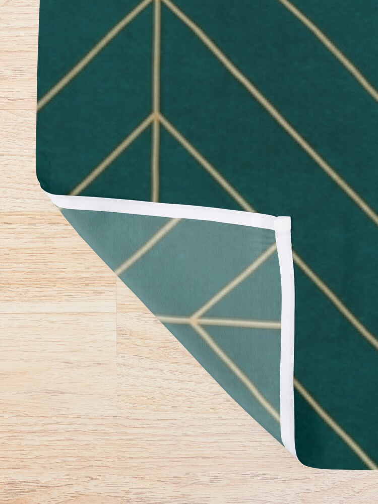 Alternate view of Teal & Gold Chevron Shower Curtain