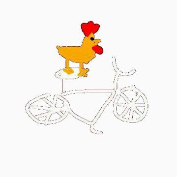 Chicken on a bike by jaxters