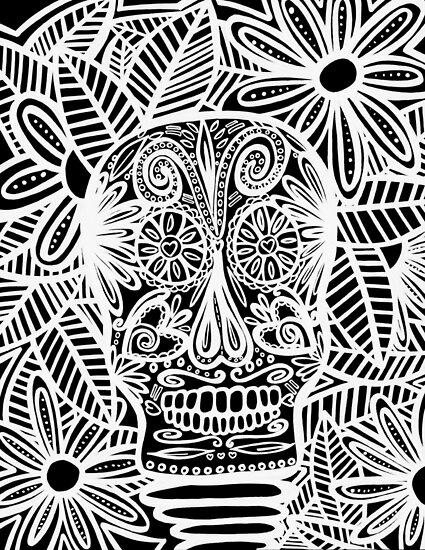 Skull Negative by TandJart