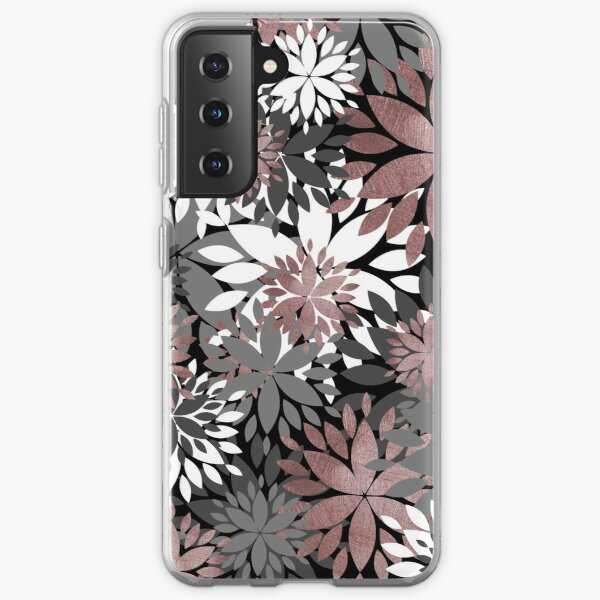 Pretty rose gold floral illustration pattern Samsung Galaxy Soft Case