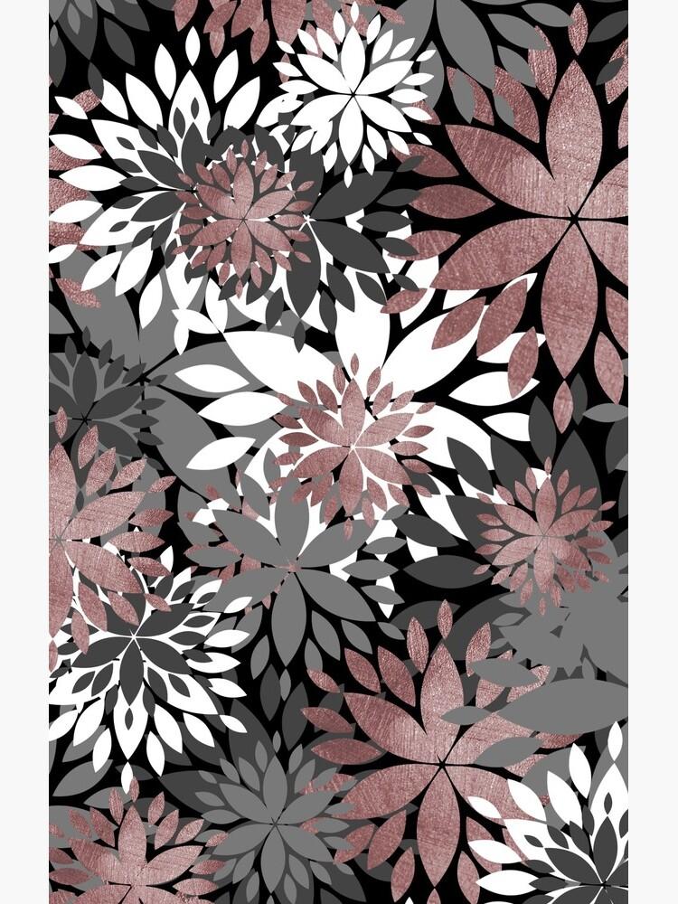 Pretty rose gold floral illustration pattern by InovArtS