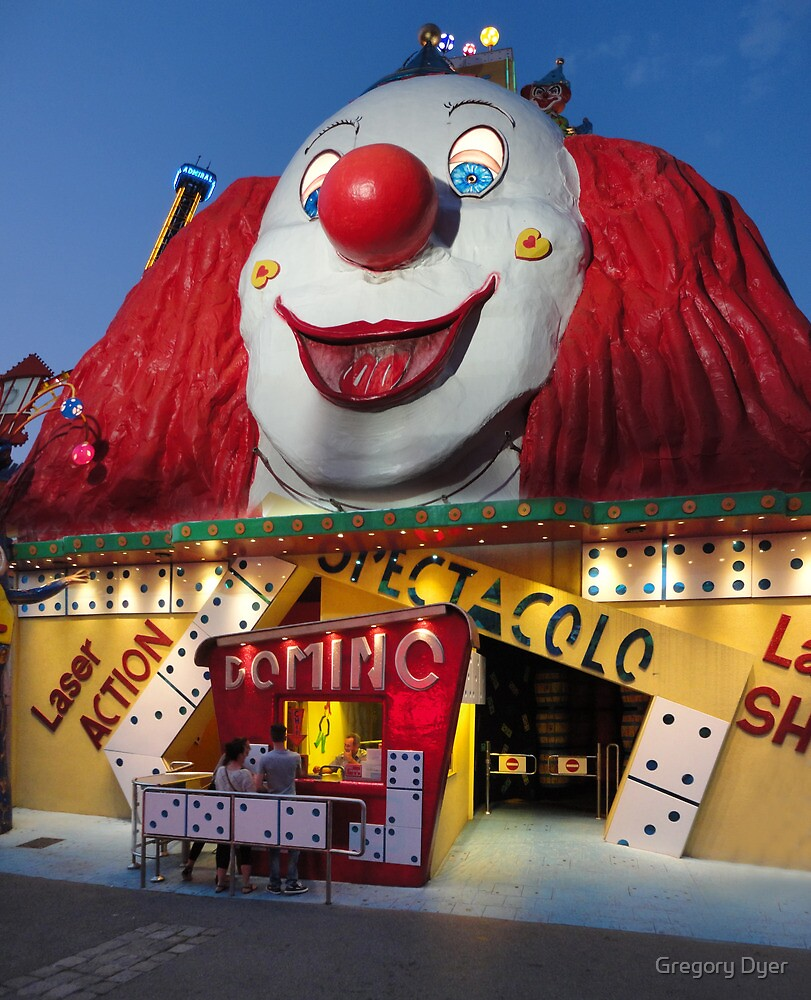 Praterstern Park, Vienna Austria, Spooky Clown by Gregory Dyer