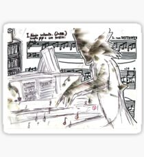 Beethoven at Work Sticker